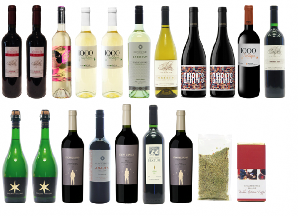 14-Rebsortenpaket - 18 Flaschen Wein